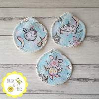 Face Scrubbies x 3 - Mer Animals - Daisy & Bird