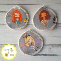 Face Scrubbies x 3 - Retro Princesses - Daisy & Bird