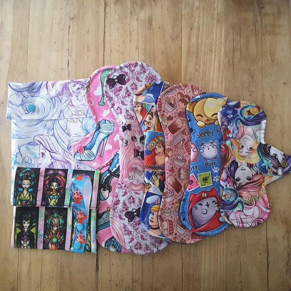 Cloth Pad Starter Packs - Daisy & Bird