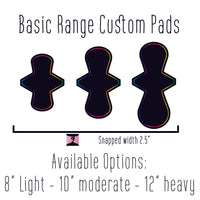 Basic Range Cloth Pads - Made to Order - Daisy & Bird