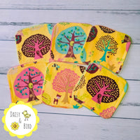Set of 6 Face Wipes  - Happy Forest - Daisy & Bird
