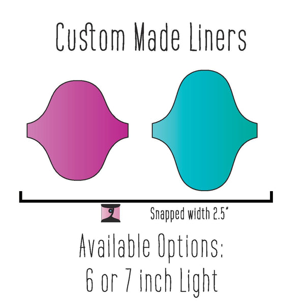 Custom Made Liners - Daisy & Bird
