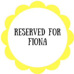 Reserved for Fiona - Daisy & Bird