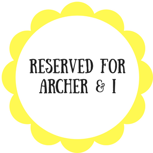 Reserved for Archer & I - Daisy & Bird