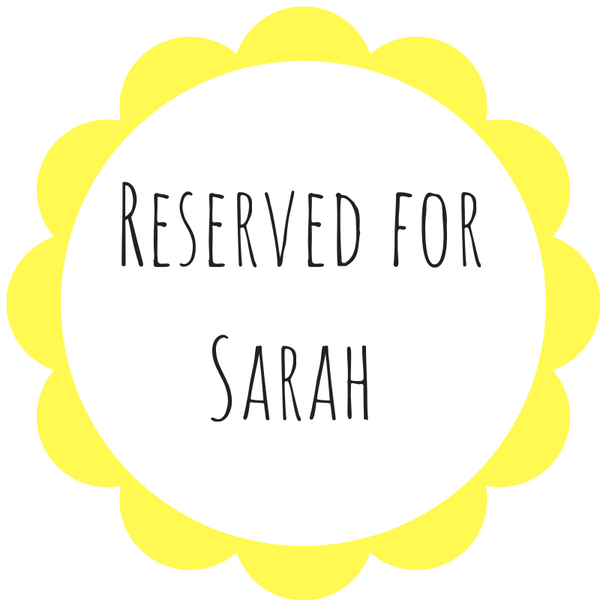 Reserved for Sarah - Daisy & Bird