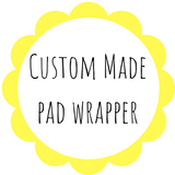 Custom Made Pad Wrapper - Daisy & Bird