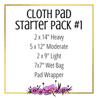Cloth Pad Starter Pack #1 - Daisy & Bird