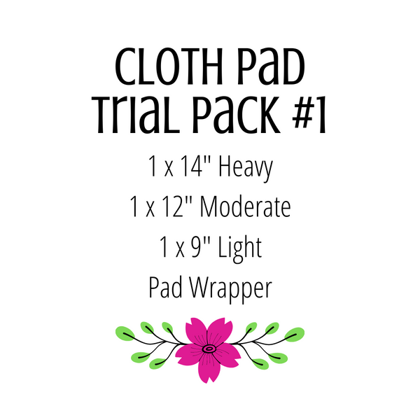 Cloth Pad Trial Pack #1 - Daisy & Bird