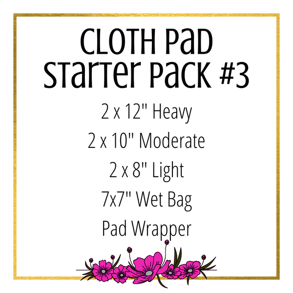 Cloth Pad Starter Pack #3 - Daisy & Bird