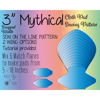 Mythical Cloth Pad Sewing Pattern - Full Bundle 3 Inch snapped width - Daisy & Bird