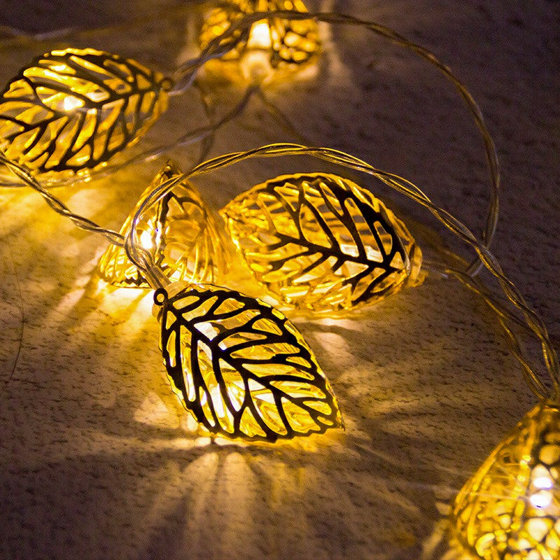10 FT 20 LED Golden Leaves Fairy String Lights