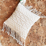 Handmade Boho Macrame Throw Pillow