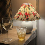 Ceramic Flowers Pleated Lamp