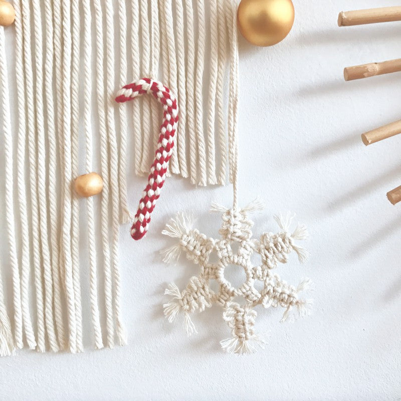 Handmade Crochet Christmas Wall Hanging