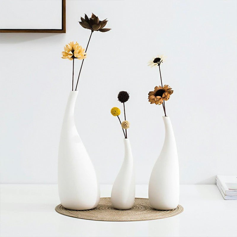 Neutral Japanese Style Ceramic Vase