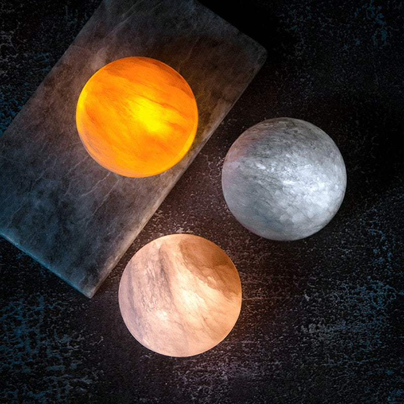 Natural Stone Moon Lamp