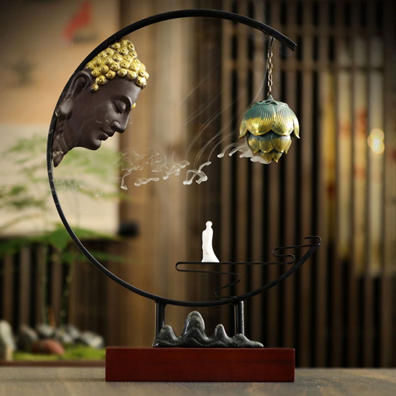 Vintage Buddha Incense Burner