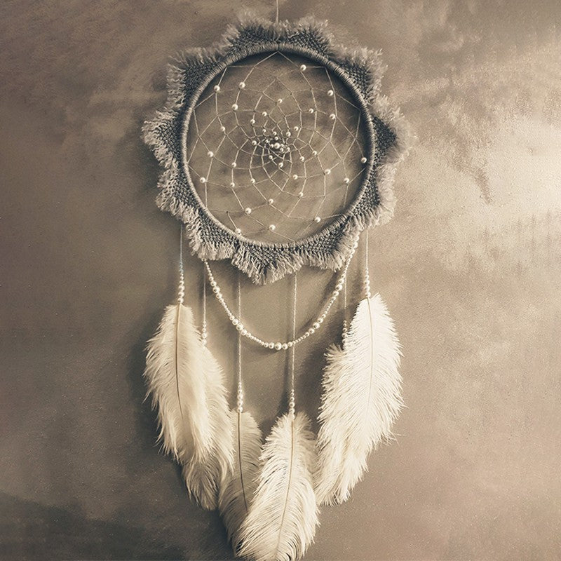 Handmade Vintage Pearl Dream Catcher