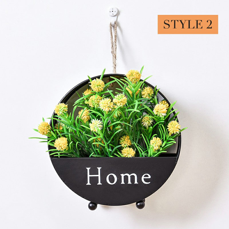 Home Interior Wall Decor Flower Basket