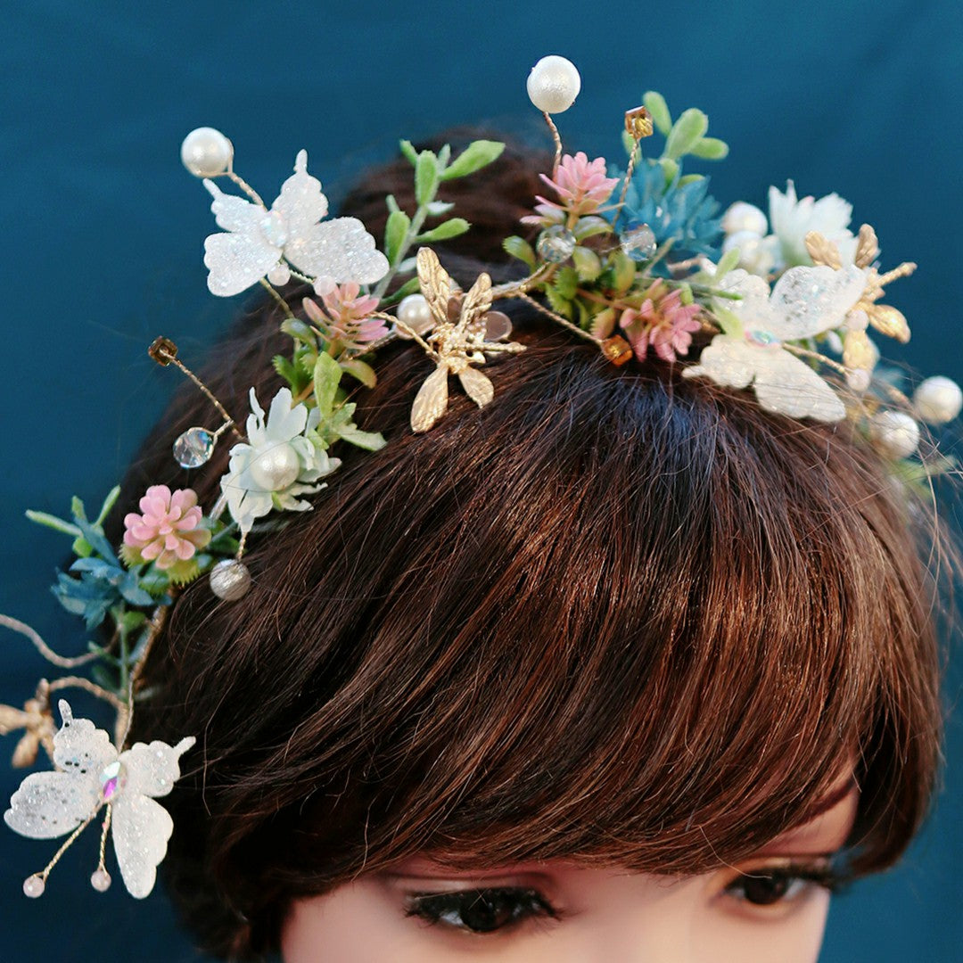Handmade Fairy Forest Flowers Hair Bands
