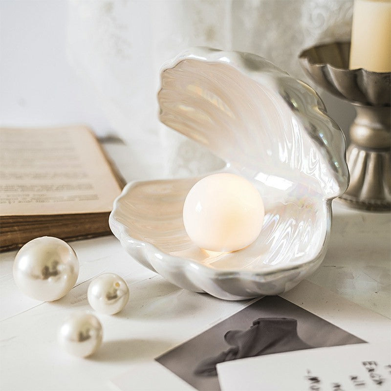 Ceramic Clam Shell Pearl Lamp