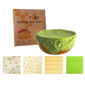 Organic Reusable Beeswax Wraps - Set of 3
