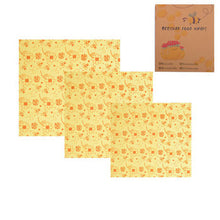 Load image into Gallery viewer, Organic Reusable Beeswax Wraps - Set of 3