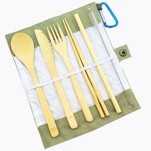 Portable Eco Friendly Bamboo Cutlery Set