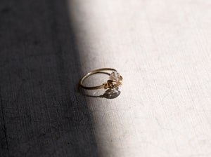 Herkimer Diamond Caged Ring