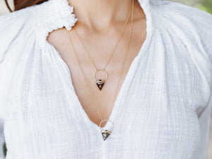 Albatross Necklace - Smoky Quartz