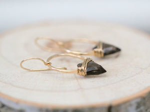 Albatross Earrings - Smoky Quartz