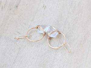 Albatross Earrings - Crystal Quartz