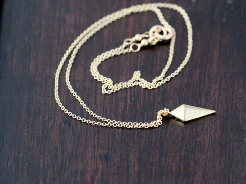 Arrowhead Layering Necklace - Gold