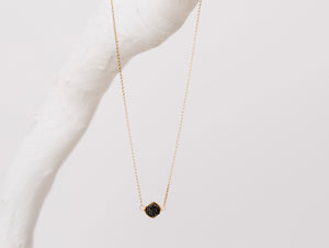 Hexagon Druzy Necklace - Eclipse
