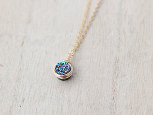Baby Bezel Pendant Necklace - Sea Farer