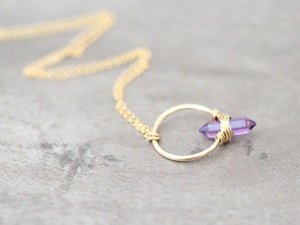 Crest Necklace - Amethyst