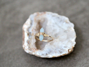 Crest Ring - Aquamarine