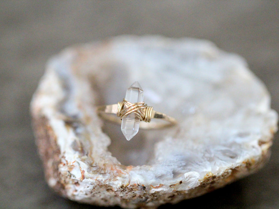 Crest Ring - Crystal Quartz
