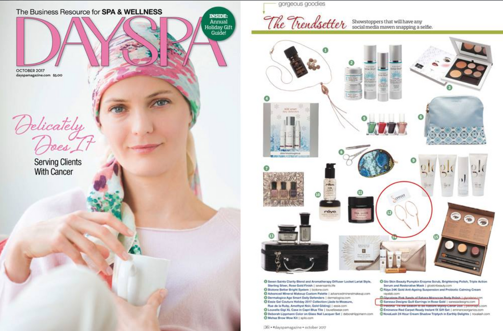 Quill Earrings ( As Seen In Day Spa Magazine )