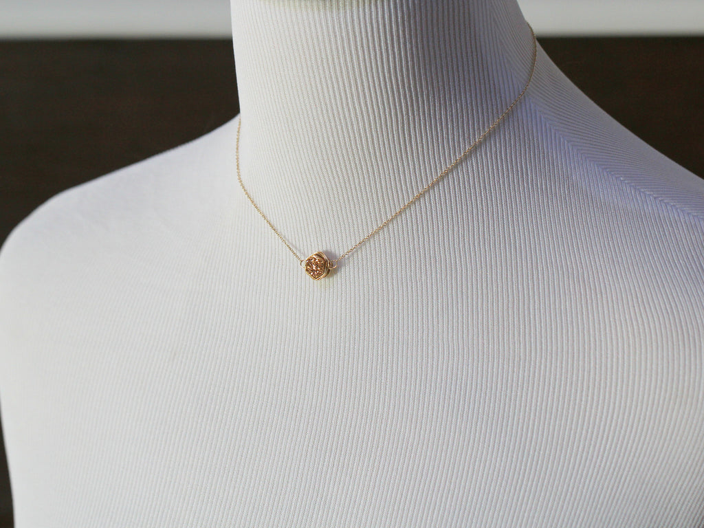 Gilded Hexagon Druzy Necklace - As displayed at the 2014 GBK Primetime Emmys Luxury Lounge