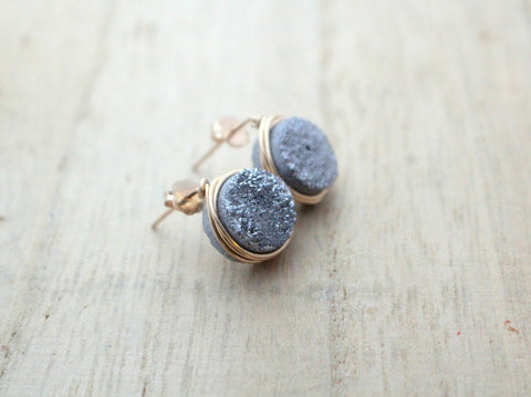 Druzy Studs (Multiple Colors)