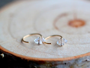 Herkimer Diamond Hug Hoops