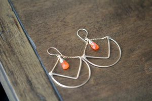 Tulip Hoops - Carnelian  ( As Seen On Cedar Cove )