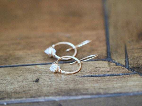 Herkimer Diamond Hoops  - A Collaboration w/ The Small Things Blog