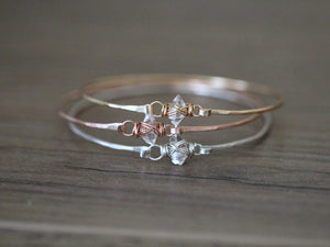 Herkimer Diamond Caged Bracelet