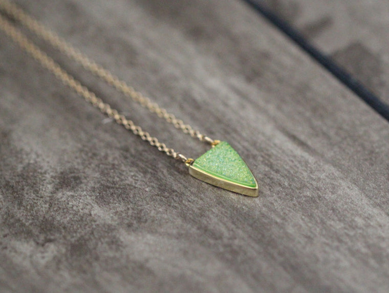Druzy Finn Necklace - Bartlett