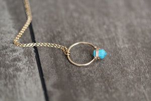 Caged Turquoise Necklace