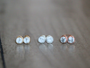 Howlite Marble Studs - As seen on All American