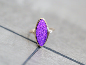 Marquis Druzy Ring - Mulberry