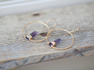 Sunrise Earrings - Fluorite ( As Seen On Chambers )
